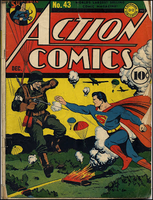 Action comics 43 december 1941 cover art by fred ray