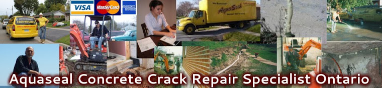 Aquaseal Basement Foundation Epoxy Concrete Crack Repair Specialist Ontario