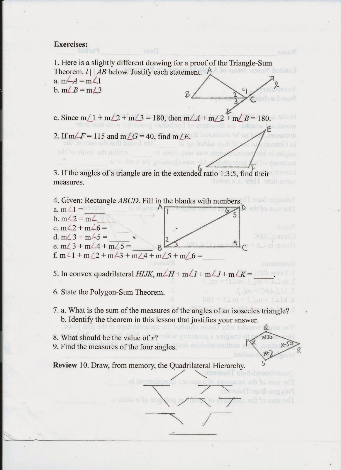 Geometry Common Core Style October 2014 – Glencoe Geometry Worksheet Answers