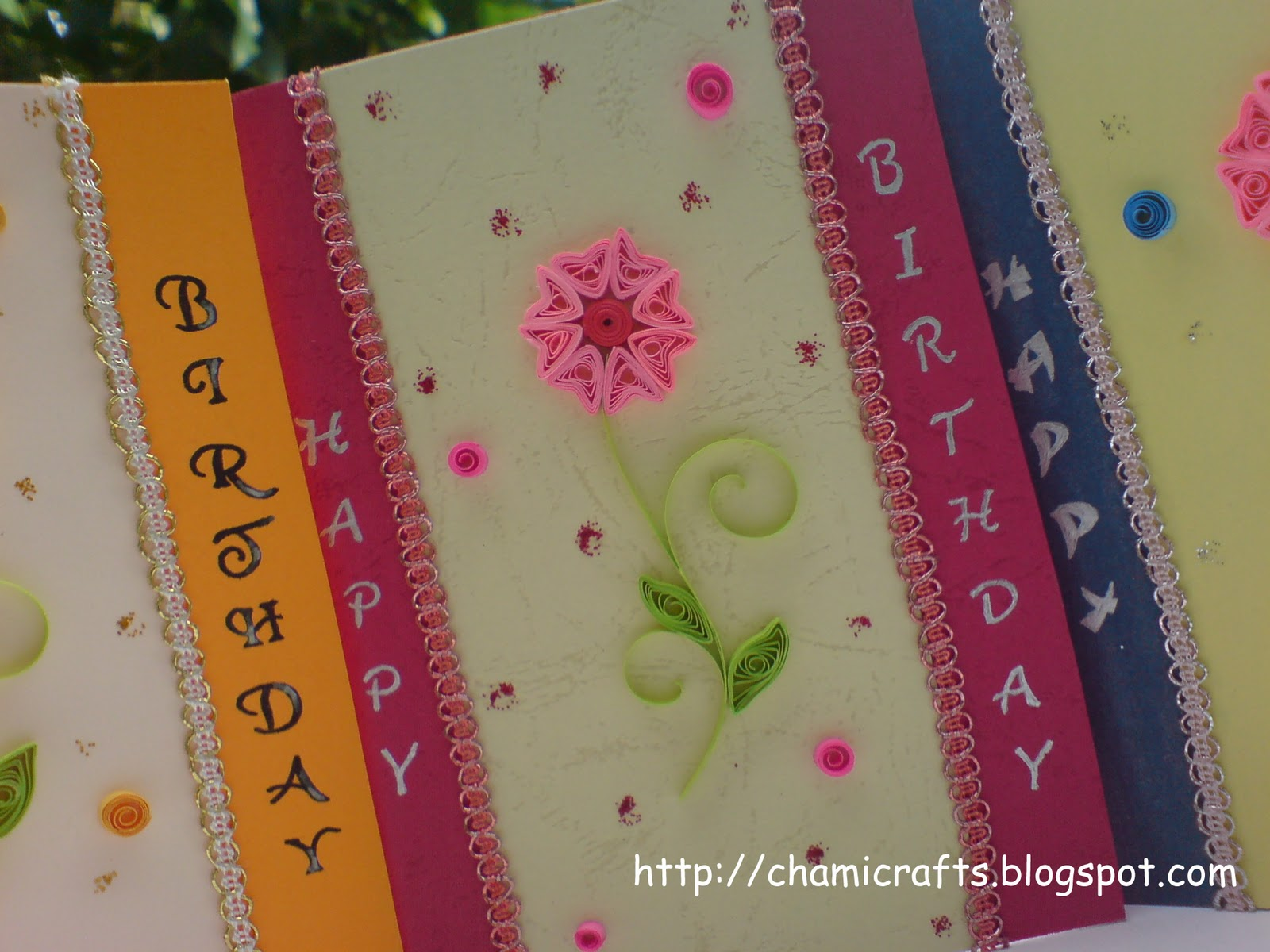 Chami crafts handmade greeting cards one design with different one design with different colors m4hsunfo