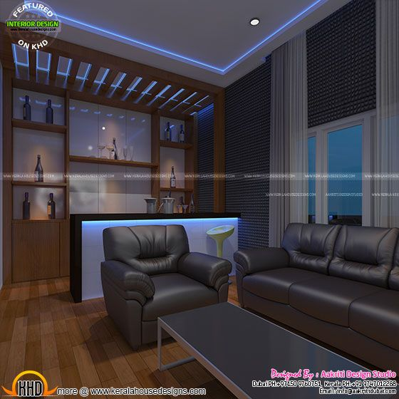Media room bar area
