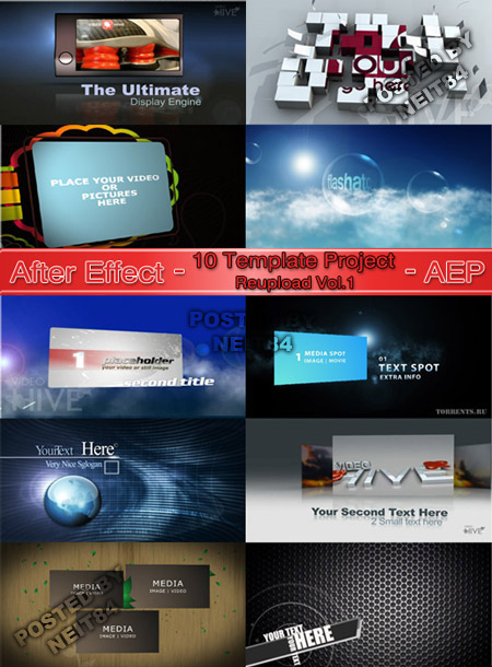 10 Template After Effects Project for Designer