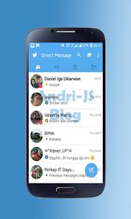 BBM Twitter V2 - BBM Mod 2.11.0.16 Tema Twitter