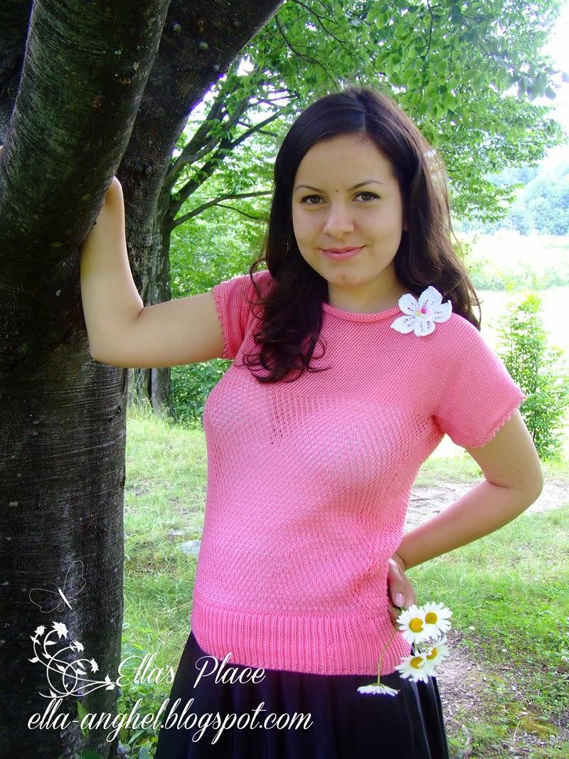 """Bluză din bumbac """"Blossom"""""""