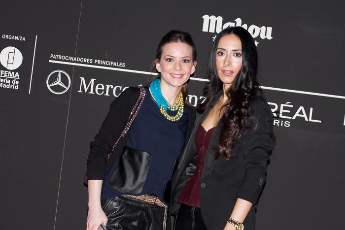 Blogger de moda Withorwithoutshoes Con Paqui de Gemeladas en el Kissing Room de Andrés Sardá en la MBFWM