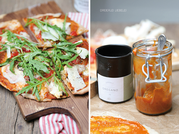 Selbstgemachte Pizza mit Rucola Thermomix