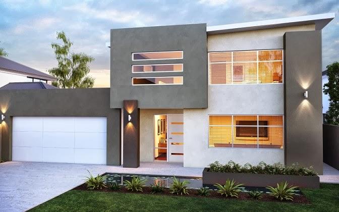 gambar desain rumah tingkat 2 lantai desain rumah modern