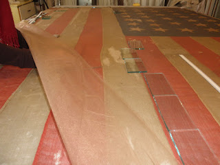 Flag conservation of historic and antique flags, textiles, banners, american flags