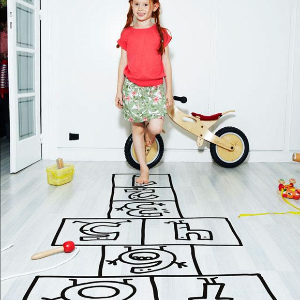 Vinilo,pared,Chispum,vinil,floor,suelo,niños,kids,rayuela