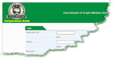 Corp Bank Clerk Recruitment 2012 Online Form