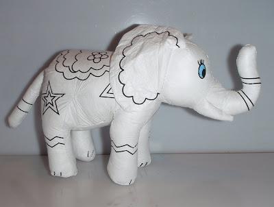 Színezhető elefánt