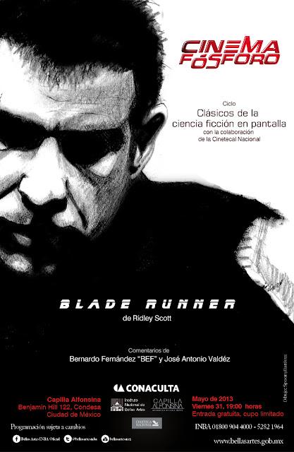 """Exhiben """"Blade Runner"""" de Ridley Scott en la Capilla Alfonsina del INBA"""