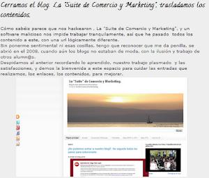 Cierre y apertura de nuestro blog