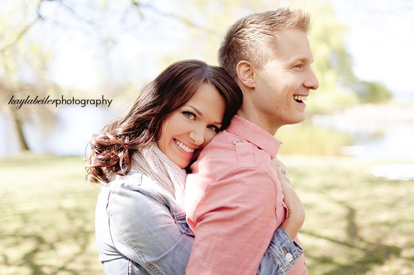 jericho park engagement photo
