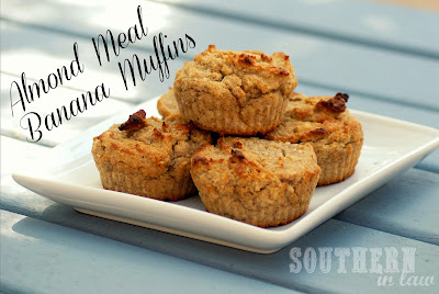 Healthy Almond Meal Banana Muffins- Gluten free, vegan, sugar free
