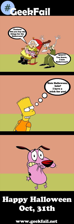 eustace muriel bart halloween trick courage fear