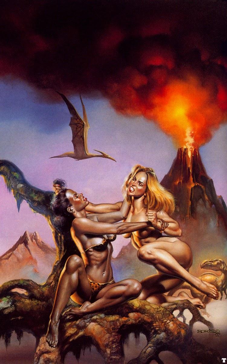 pintura mulheres brigando