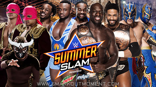 WWE SummerSlam 2015 Prime Time Players New Day Lucha Dragons Los Matadores