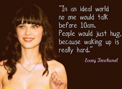 quote, Zooey Deschanel, funny, humour