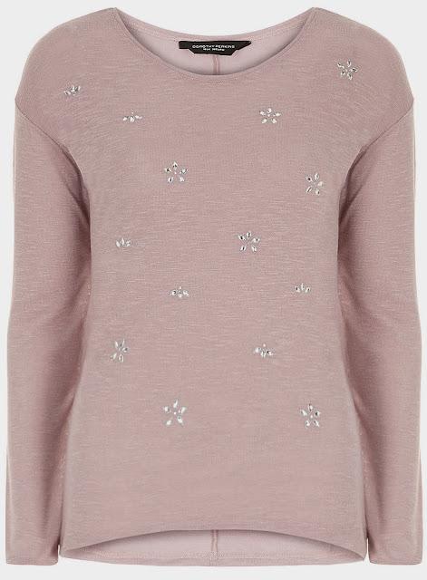 pink embellished jumper