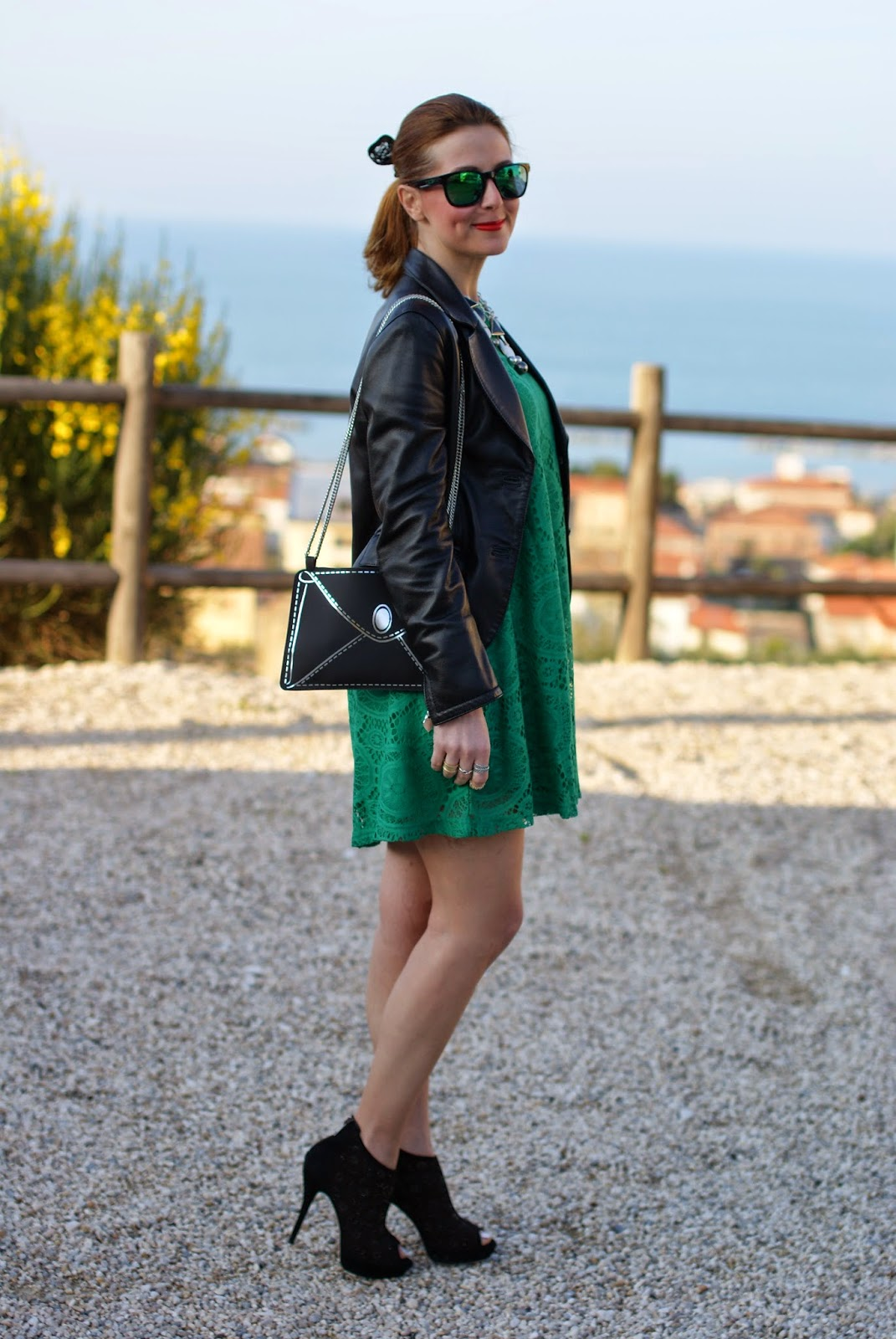 Vitti Ferria Contin jewelry, Today I'm me evening bag, Poletto shoes, Sheinside green dress, Fashion and Cookies, fashion blogger