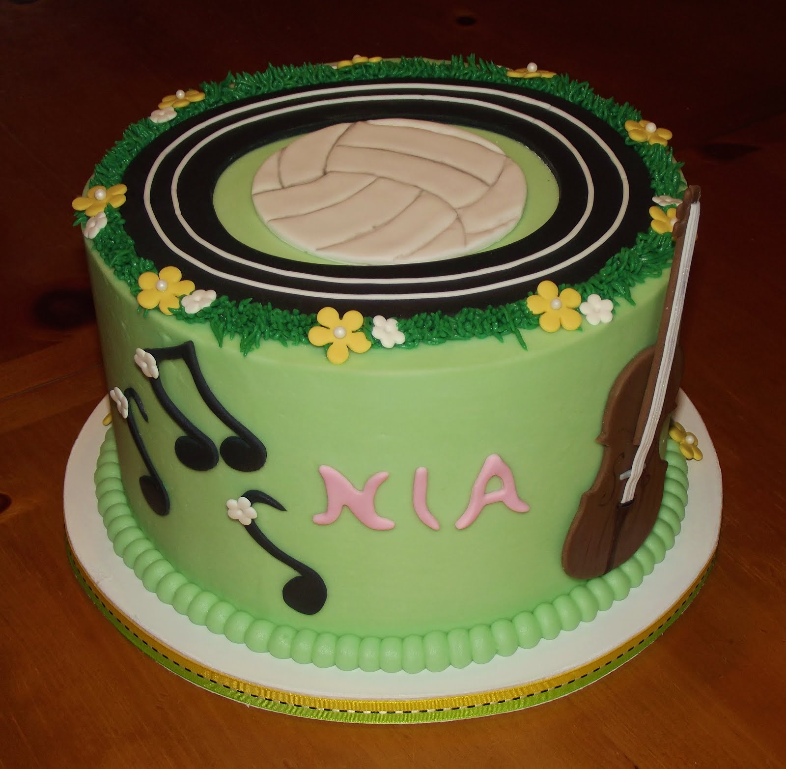 Suzys Sweet Shoppe Volleyball Birthday Cake