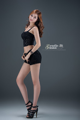 Han Song Yee Sexy Model in Black