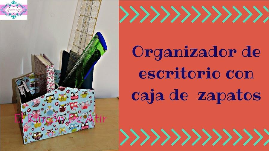 Organizador de escritorio con caja de zapatos - Como hacer un organizador de zapatos casero ...