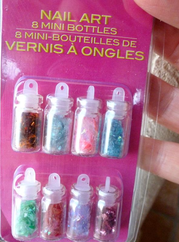Mich L In La Tiniest Glitter Bottle Ornaments