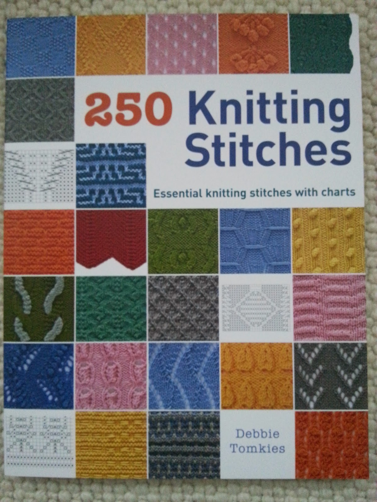 Knit Stitch Dictionary By Debbie Tomkies : Hue & Dye: New year new book! - 250 Knitting Stitches by Debbie Tomkies
