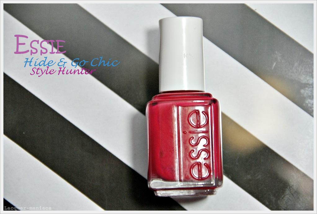 Essie Style Hunter + porównanie z Essie Watermelon