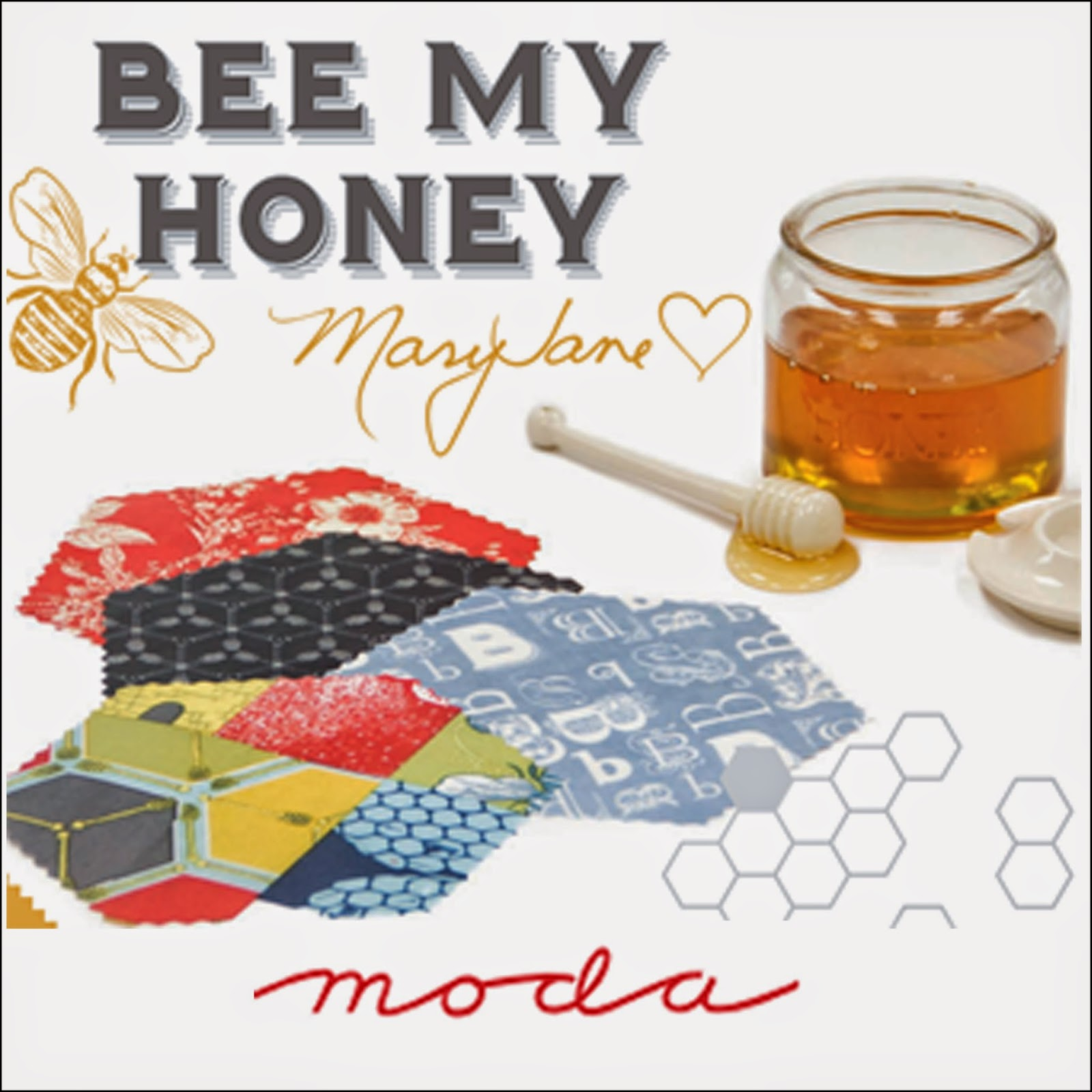 Moda BEE MY HONEY Quilt Fabric by Mary Jane Butters