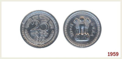 25 Paise Coin in India