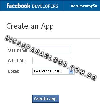criar aplicativo no facebook
