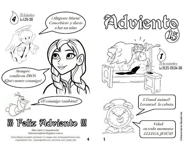 Puntadas de Adviento: Cuadernillo de fichas para imprimir y colorear ...