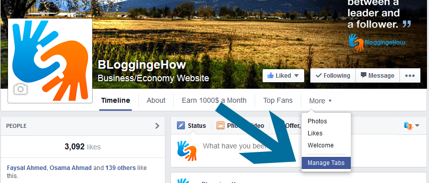 facebook manage tabs bloggingehow