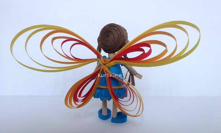 3D quilling Fairy tutorial step by step