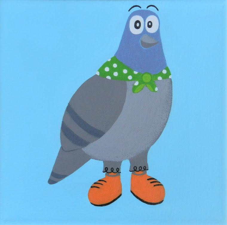 pigeon rigolo
