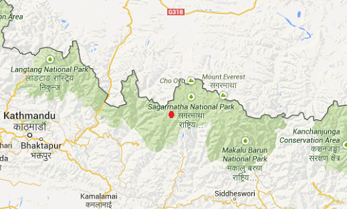 Nepal_Everest_earthquake_epicenter_map