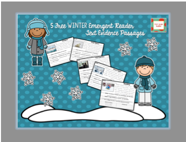 http://www.teacherspayteachers.com/Product/Winter-Emergent-Reading-Passages-with-Practice-Using-Based-Evidence-1614732