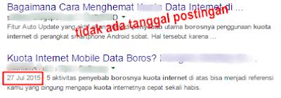 cara menyembunyikan tanggal postingan artikel blogspot