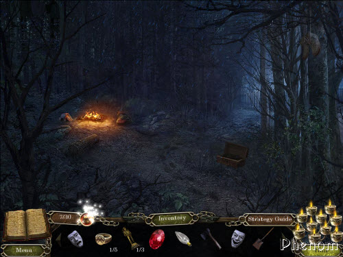 Cursed Memories: The Secret of Agony Creek Collector's edition - Night, forest, fire