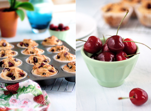 Gluten-Free Dairy-free Cherry Almond Muffins