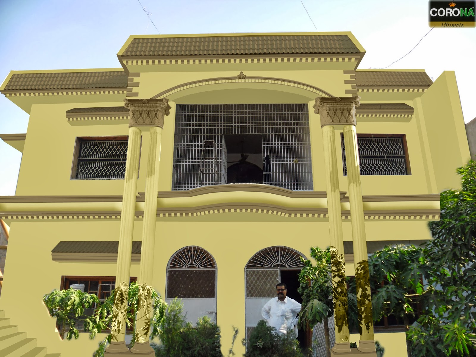 Front Elevation Colour Schemes : Paints of ideas elevation colour combination in hyderabad