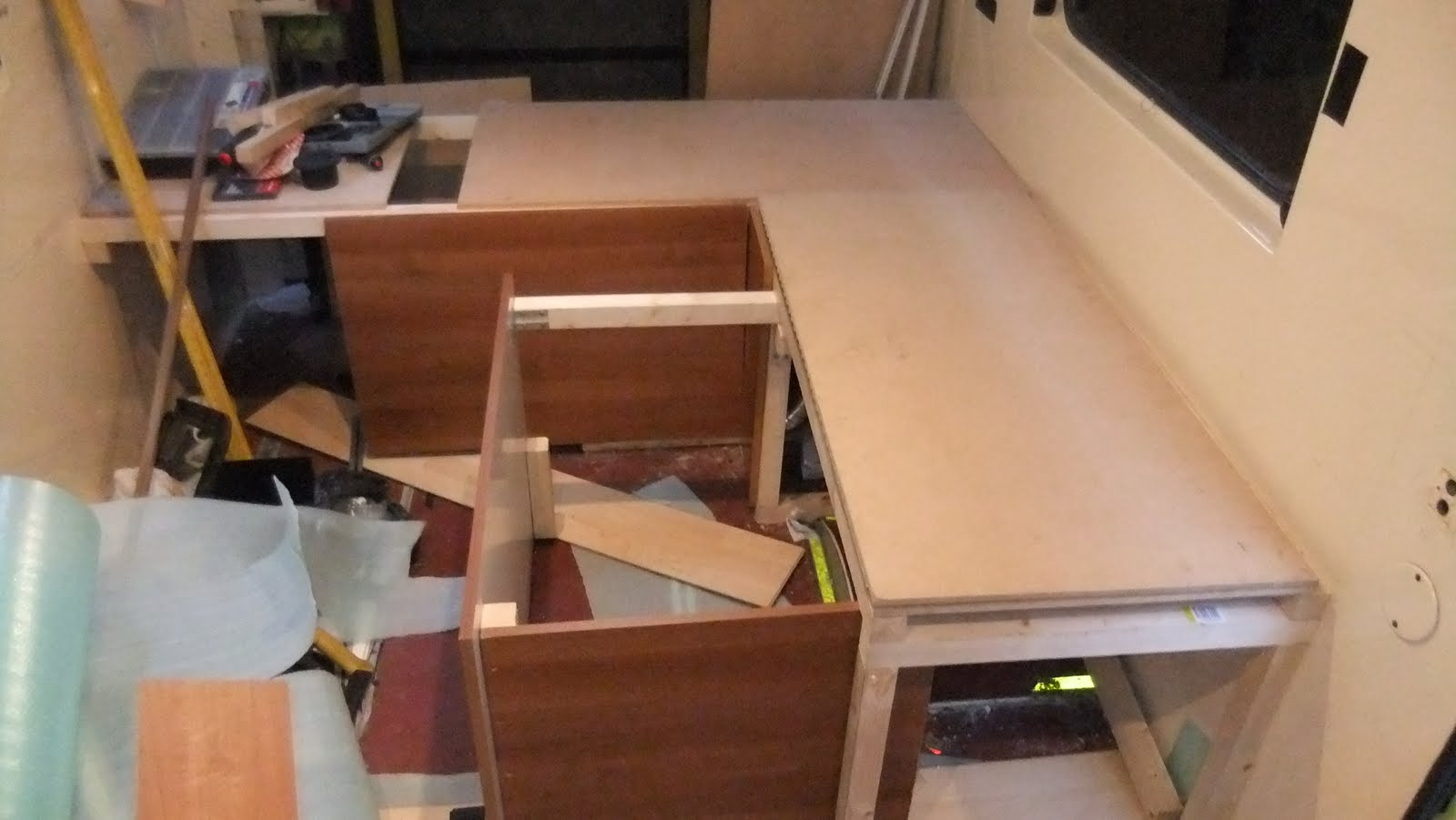 Camper Conversion: Seating, Beds, Boot & start of Kitchen, Toilet ...