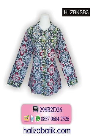 Baju Blus Batik Motif Tenun. 085706842526 INDOSAT, Batik Busana Muslim, Batik Modern, Model Batik, HLZBSKB3