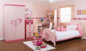 Desain Kamar Tidur Warna Pink Untuk Cewek