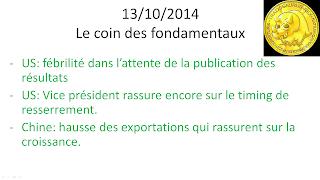 news économiques et boursières 13/10/2014