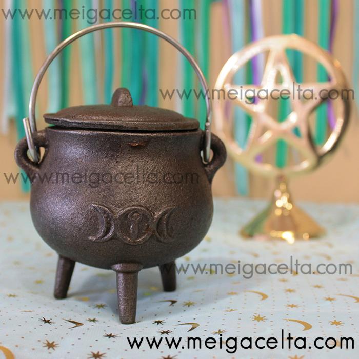 caldero hierro mágico bruja meiga hechicera druida comprar Meiga Celta