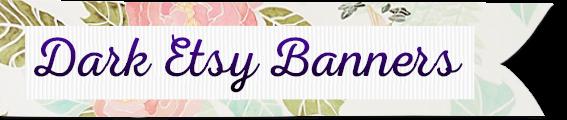dark Etsy Shop Banners